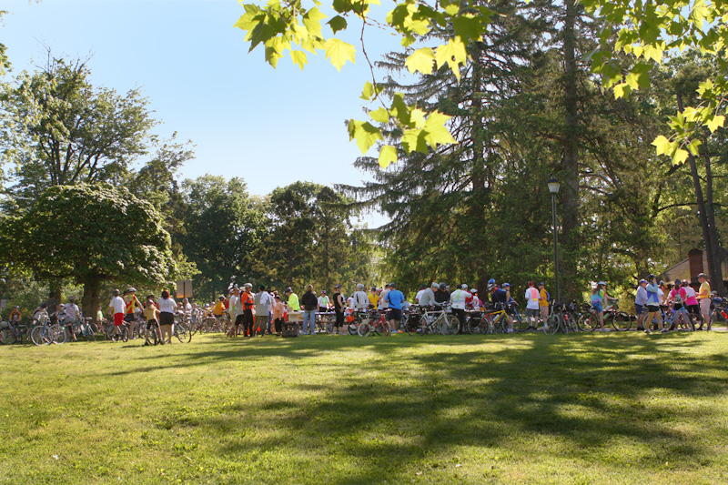 Bikers gather in Cadwalader Park for the 2011 Trenton Bike Tour