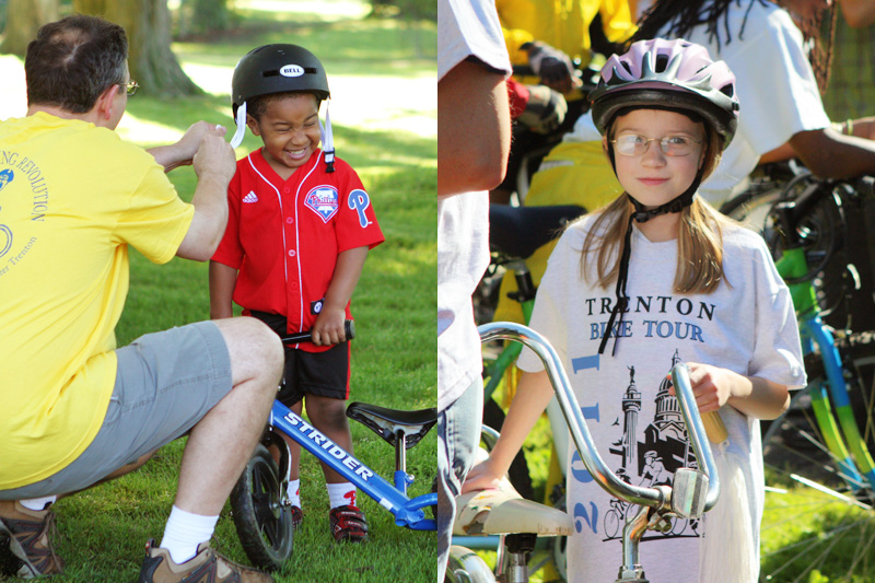 Local kids and families participate in the 2011 Trenton Bike Tour