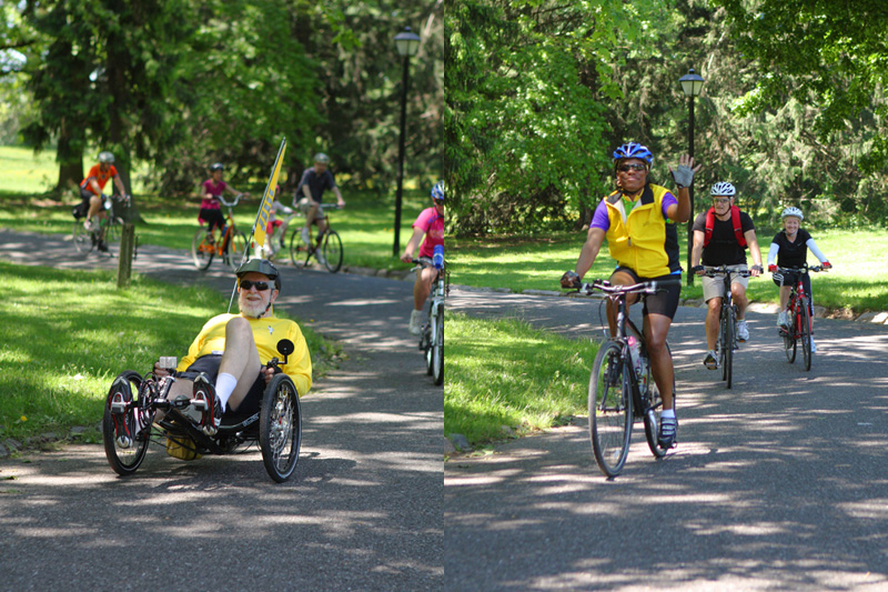 Riders return to Cadwalader Park for end of the 2011 Trenton Bike Tour