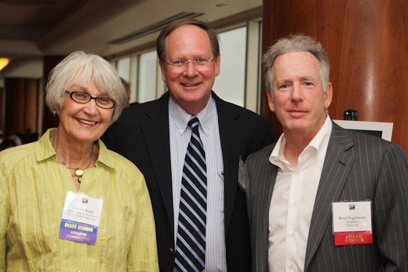 Smart Growth Awards Juror Ingrid Reed with two awardees.