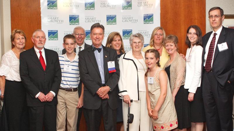 James G. Gilbert with his family