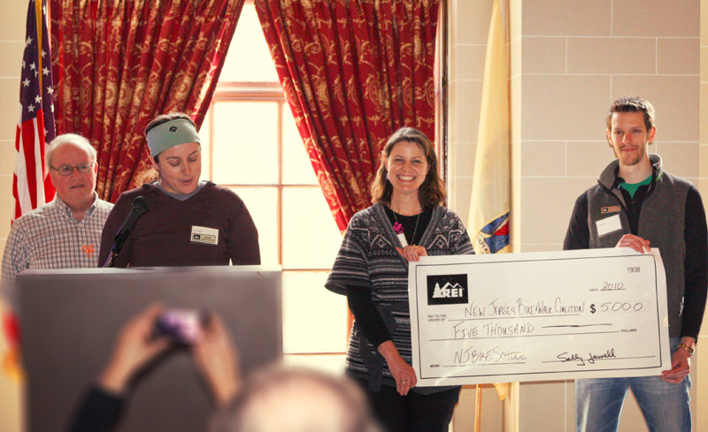 REI presents NJ Bike & Walk Coalition with $5,000 for bicycle education