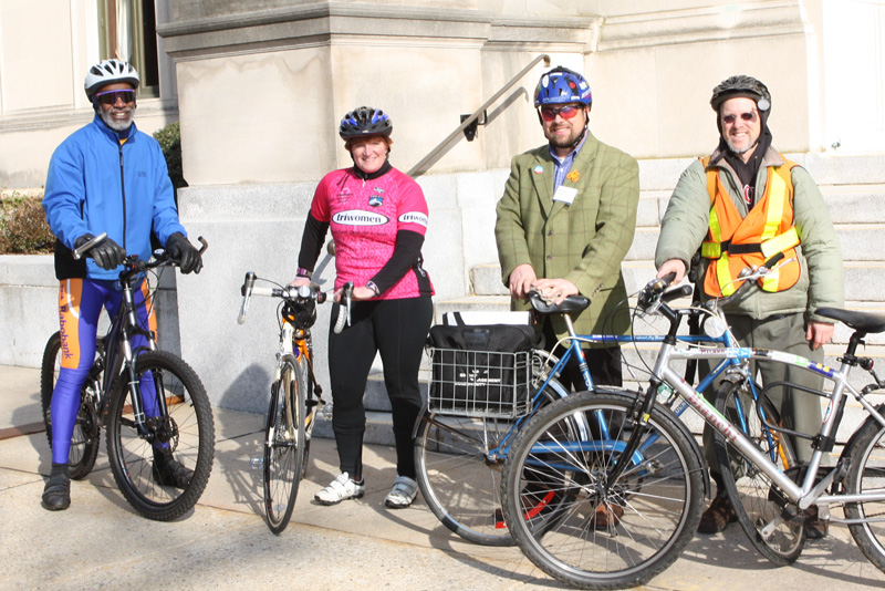 An optional bike ride after the conference attracted several enthusiasts