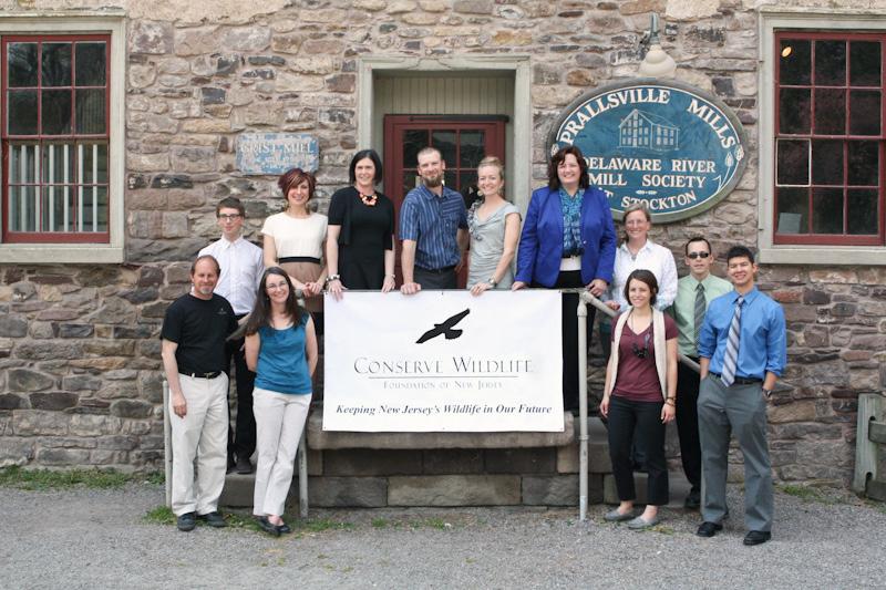 Conserve Wildlife Foundation of New Jersey staff at Prallsville Mills