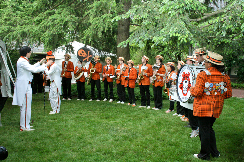 Princeton University Marching Band Performs at 2012 Princeton Reunions at the Scheide Home