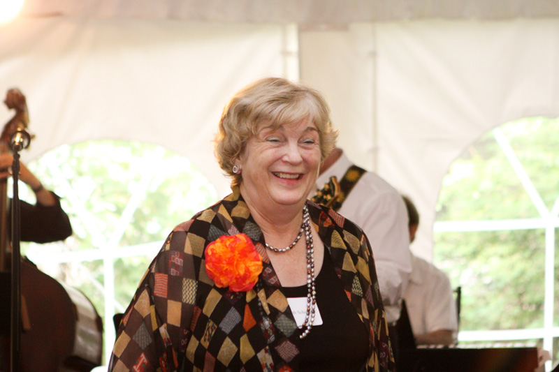 Hostess Judith Scheide Addresses Guests at 2012 Princeton Reunions at the Scheide Home